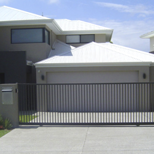 Automatic Garage Gate in Front of Modern Home - Aus-Secure