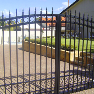 Black Steel Fence and Gate - Aus-Secure