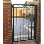 Pedestrian Gate Brick Fence - Aus-Secure