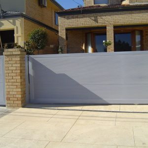 Panel Gate and Pedestrian Gate - Aus-Secure