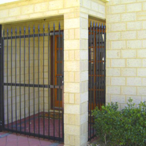 Black Grille and Gate - Aus-Secure