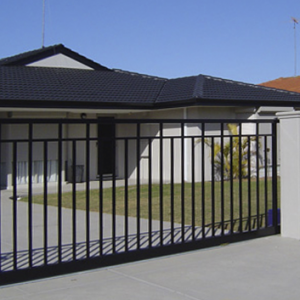 Black Steel Gate - Aus-Secure