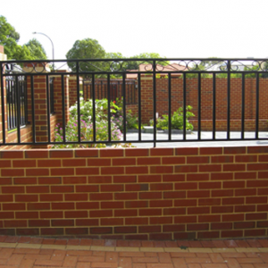 Brick Fence with Grille - Aus-Secure