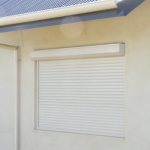 Roller Shutters on Window - Aus-Secure