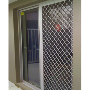 White Diamond Grille Security Door - Aus Secure