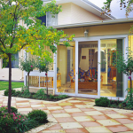 Open Security Doors onto Pavers and Garden - Aus-Secure