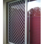 Diamond Grille Security Screen Window on House - Aus-Secure