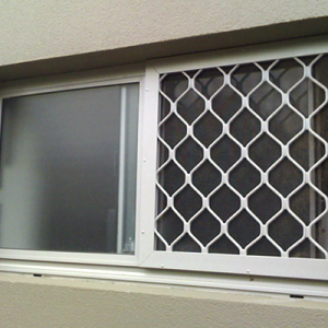 Security Screen on Bathroom Window - Aus-Secure