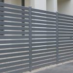 Grey Slatted Fence - Aus-Secure